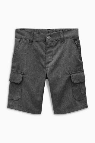 Boys Grey Combat Shorts (3-12yrs) - Grey