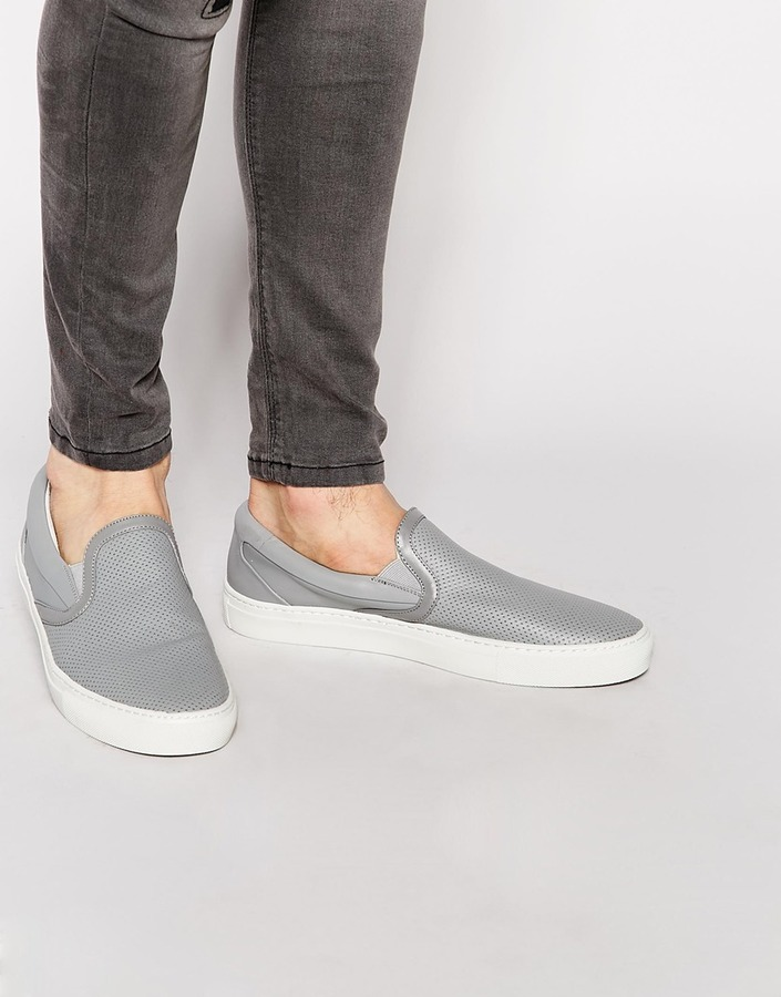 ALDO Pagwa Leather Perf Slip-On Sneakers