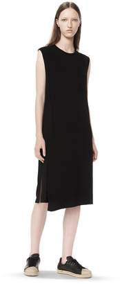 Alexander Wang Classic Overlap Dress With Pocket