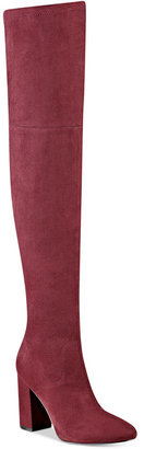 GUESS Women's Arla Over-The-Knee Block Heel Boots $139 thestylecure.com