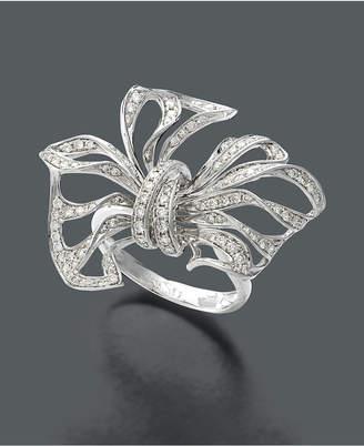 Effy Diamond Diamond Bow (7/8 ct. t.w.) in 14k White Gold