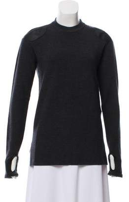 Maison Margiela Leather-Trimmed Wool Sweater w/ Tags