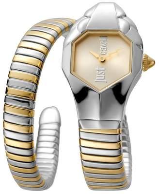 Just Cavalli Women's Glam Chic Two-Tone Cuff Watch, 22mm