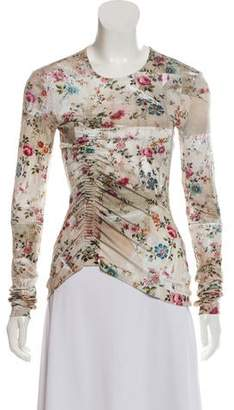 Preen by Thornton Bregazzi Floral Print Long Sleeve Top w/ Tags