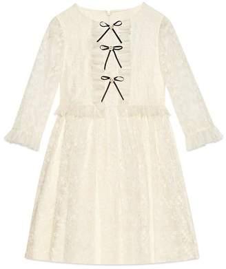 Gucci Children's embroidered silk dress