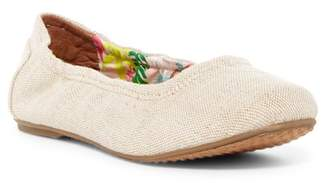 Toms Metallic Linen Ballet Flat (Little Kid & Big Kid)