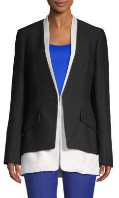 Derek Lam Tiered Long-Sleeve Blazer