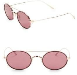 Oliver Peoples Shai 48MM Tinted Titanium Round Sunglasses