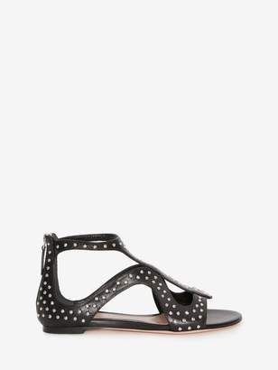 Alexander McQueen Caged Flat Sandal Hammered Studs