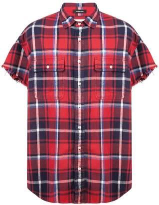 R 13 checked shortsleeved shirt