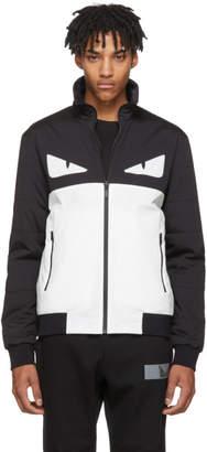 Fendi Black and White Bag Bugs Jacket