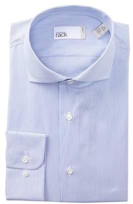 Nordstrom Rack Striped Trim Fit Dress Shirt
