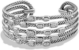 David Yurman Confetti Wide Cuff Bracelet with Diamonds