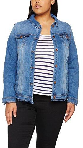 Ulla Popken Women's Jeansjacke Mit Zierborte Denim Jacket