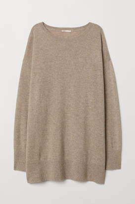 H&M Oversized Cashmere Sweater - Beige
