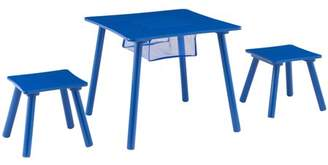 Mainstays Kids Wood Activity Table & 2 Stools Set with Net Storage, Multiple Colors