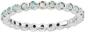 JCPenney FINE JEWELRY Personally Stackable Lab-Created Opal Eternity Ring