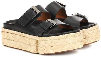 Clergerie Abby leather platform sandals