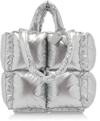 Off-White Off White C/O Virgil Abloh Puffy Small Metallic Nylon Bag