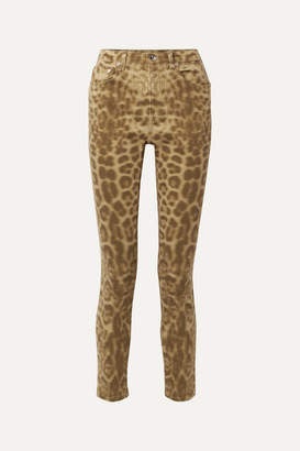Burberry Leopard-print Mid-rise Slim-leg Jeans - Leopard print