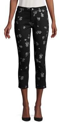 MICHAEL Michael Kors Floral Cropped Jeans