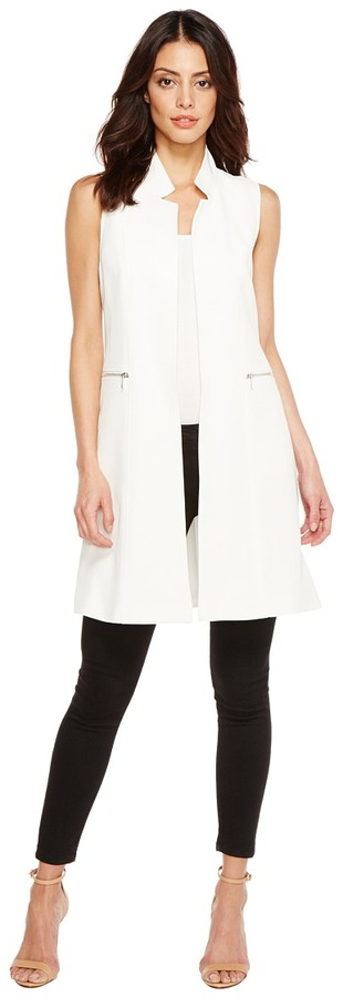 Calvin Klein - Long Vest with Zips Women's Vest