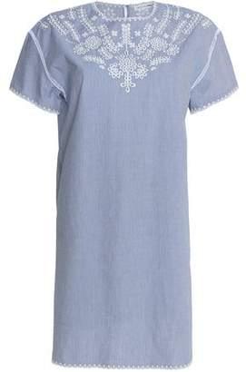 Rag & Bone/jean Woman Striped Broderie Anglaise Cotton Mini Dress Blue Size S Rag & Bone NpZ9tj8ysW
