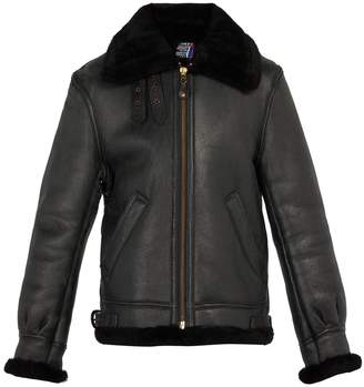 Schott Shearling leather jacket
