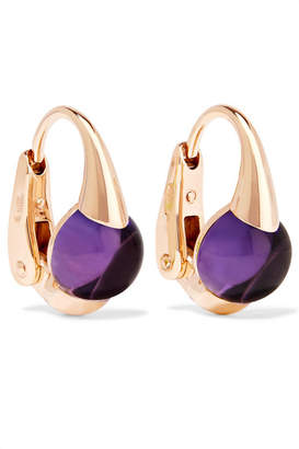 Pomellato M'ama Non M'ama 18-karat Rose Gold Amethyst Earrings