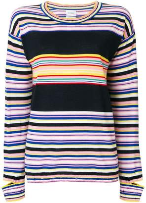 Barrie striped fine knit sweater