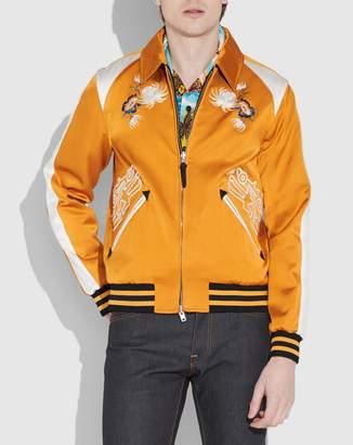 X Keith Haring Skater Souvenir Varsity Jacket