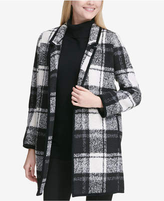 Calvin Klein Windowpane Plaid Coat
