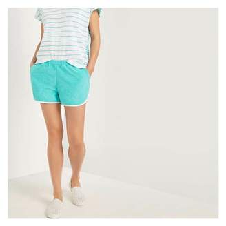 Joe Fresh Women's French Terry Shorts, Aqua (Size L)