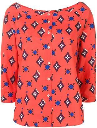 Aspesi floral diamond print blouse