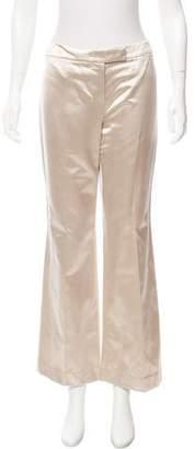 Alexander McQueen Satin Mid-Rise Pants