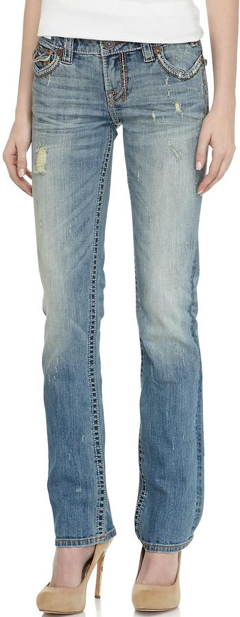 MEK Oaxaca Straight-Leg Jeans, Medium Blue