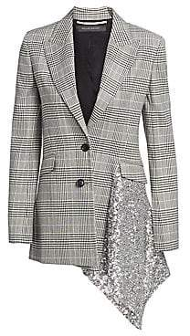 Roland Mouret Women's Marmont Check & Sequin Blazer