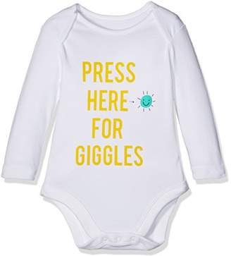 Mothercare Press Here for Giggles Bodysuit,(Manufacturer Size:56)