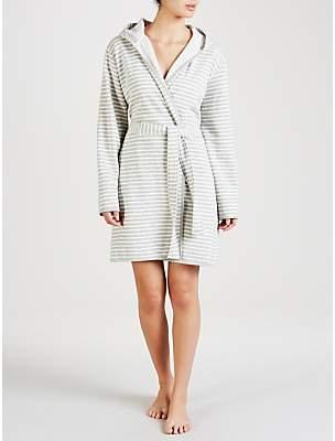 851c8d6ae0 John Lewis   Partners Stripe Jersey Hooded Robe