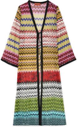 Missoni Mare Metallic Crochet-knit Cardigan - Yellow
