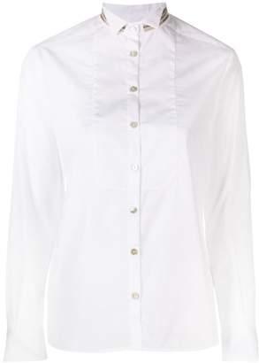 Barba contrast collar shirt