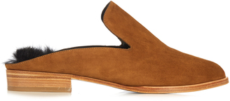ROBERT CLERGERIE Alice suede slip-on loafers $495 thestylecure.com