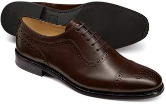 Charles Tyrwhitt Chocolate Goodyear welted Oxford brogue rubber sole shoe