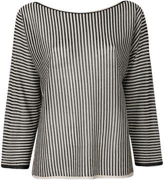 Twin-Set striped metallic blouse