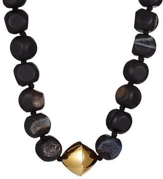 Nest Black Agate Drusy Necklace