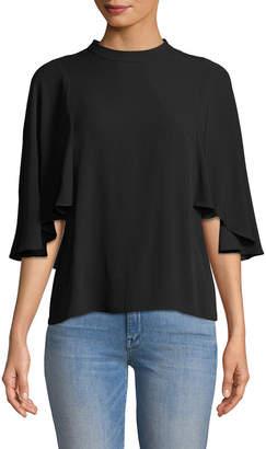 BCBGMAXAZRIA Ruthie Flutter Sleeve T-Shirt