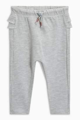 Next Girls Grey Frill Joggers (3mths-6yrs)