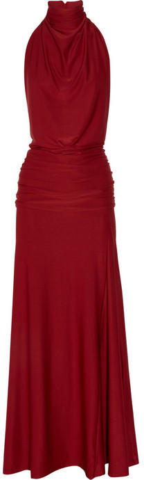 HMH Couture Backless stretch-jersey gown