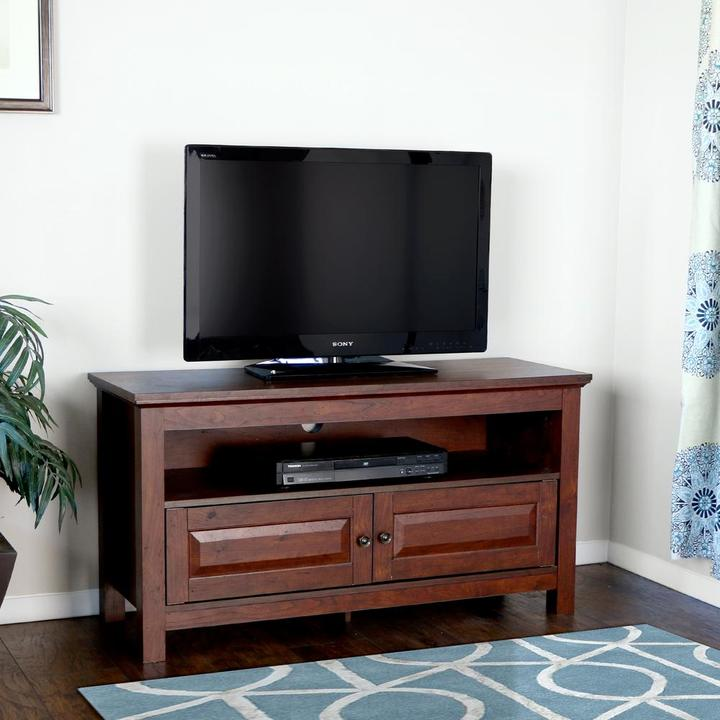 Walker Edison Furniture Company Cortez Traditional Brown Entertainment Center