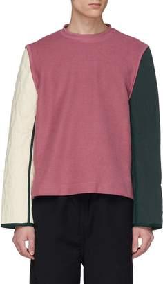 Pronounce Colourblock contrast sleeve knit sweatshirt